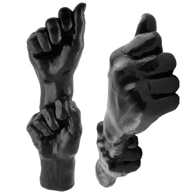 Dubbele Vuist Zwart
