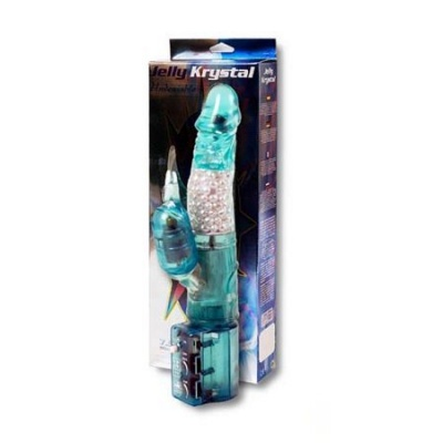 Jelly Krystal Turquoise Squirmy Vibrator